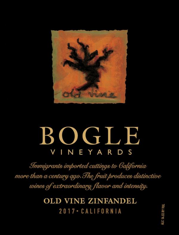 Voorkant etiket old vine zinfandel Bogle Vineyards